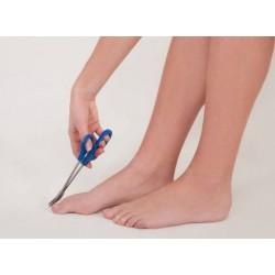 Long handled scissors in action.