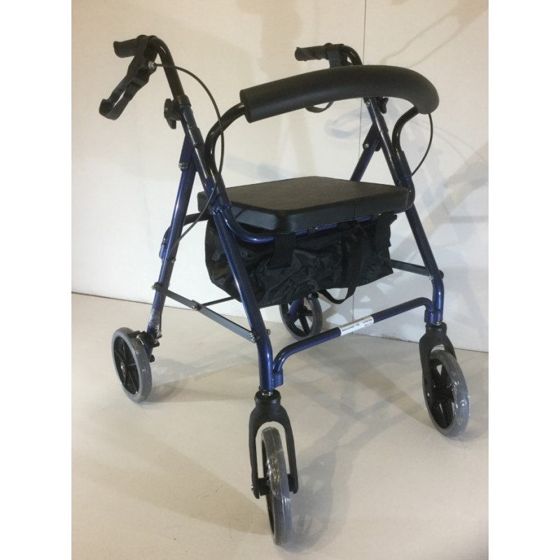 Folding lightweight 4 wheel Rollator with Seat