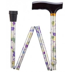 Floral Adjustable Folding Walking Stick