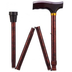 Bird Eye Maple Adjustable Folding Walking Stick